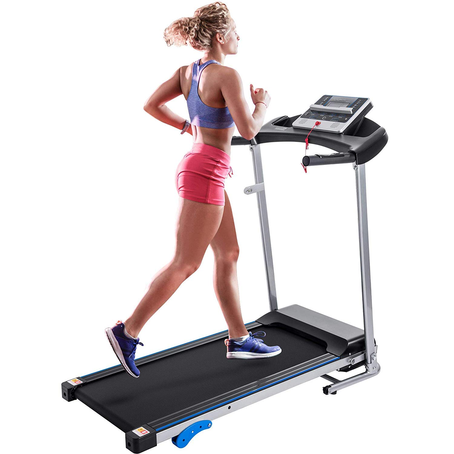 Merax Electric Folding Treadmill Motorized Running Machine with Speaker and Built-in Programs for Home, Easy Assembly