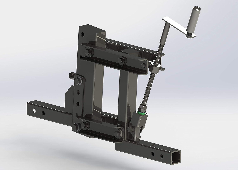 1-Point Lift System for ATV//UTV with 2 inch Receivers ATV Implement Attachment System Outdoors Landscape Rake mount ATV//UTV Farm Attachments