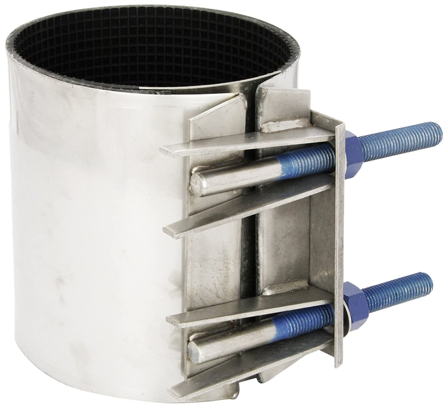 Stainless Steel Bolt 7-1//2 Length 3 Pipe Size Full Circle Smith-Blair Stainless Steel Repair Clamp 2 Bolts