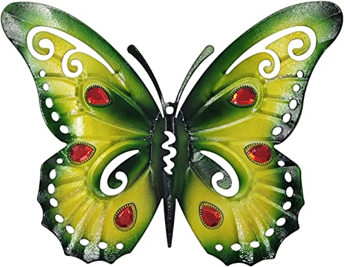 YINUOYOUJIA Metal Wall Art Decor- Metal Butterfly Decorative Wall Art -3D Multicolor Wall Decor Sculpture Hanging for Indoor and Outdoor Style-2