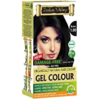 Indus Valley Natural Organic Damage Free Gel Hair Color For Grey Coverage Hair (BLACK)