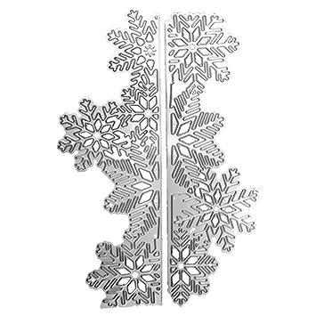 El acero de carbón copo de nieve que realza el corte muere las plantillas templa el molde fijó para la tarjeta de papel del álbum de Scrapbooking DIY: ...