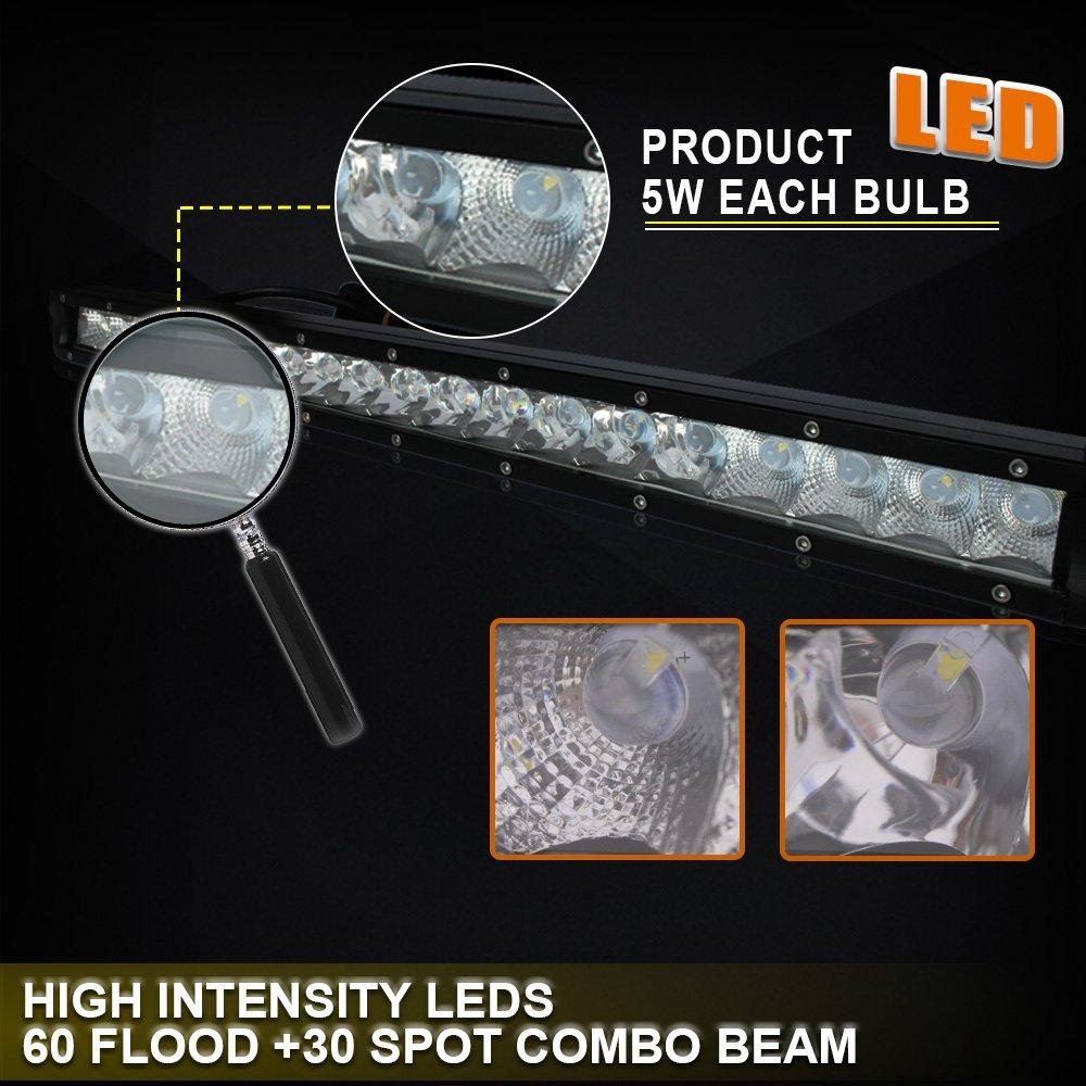 100w Led Light Bar Fog Lamp Kit W Wiring Harness Switch For 17 Raptor Ford