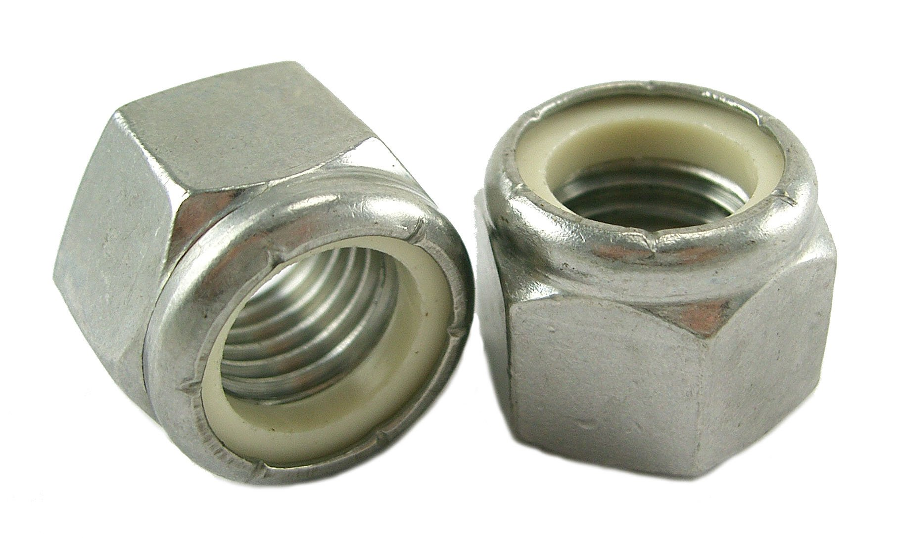10-32 Stainless Steel Nylon Insert Lock Nut (Pack of 500) by Stainless Town