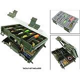 Roddarch Twin Tray Fishing Tackle Box for Sea or Coarse Fishing Tackle
