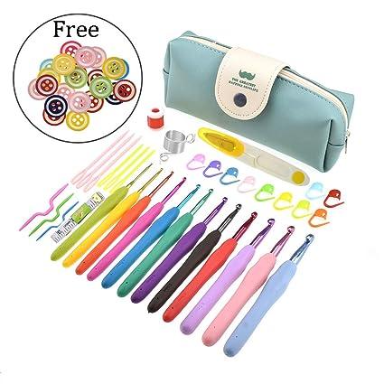 Amazoncom Looen 56 Pack Crochet Kits 12pcs Colorful Crochet Hooks