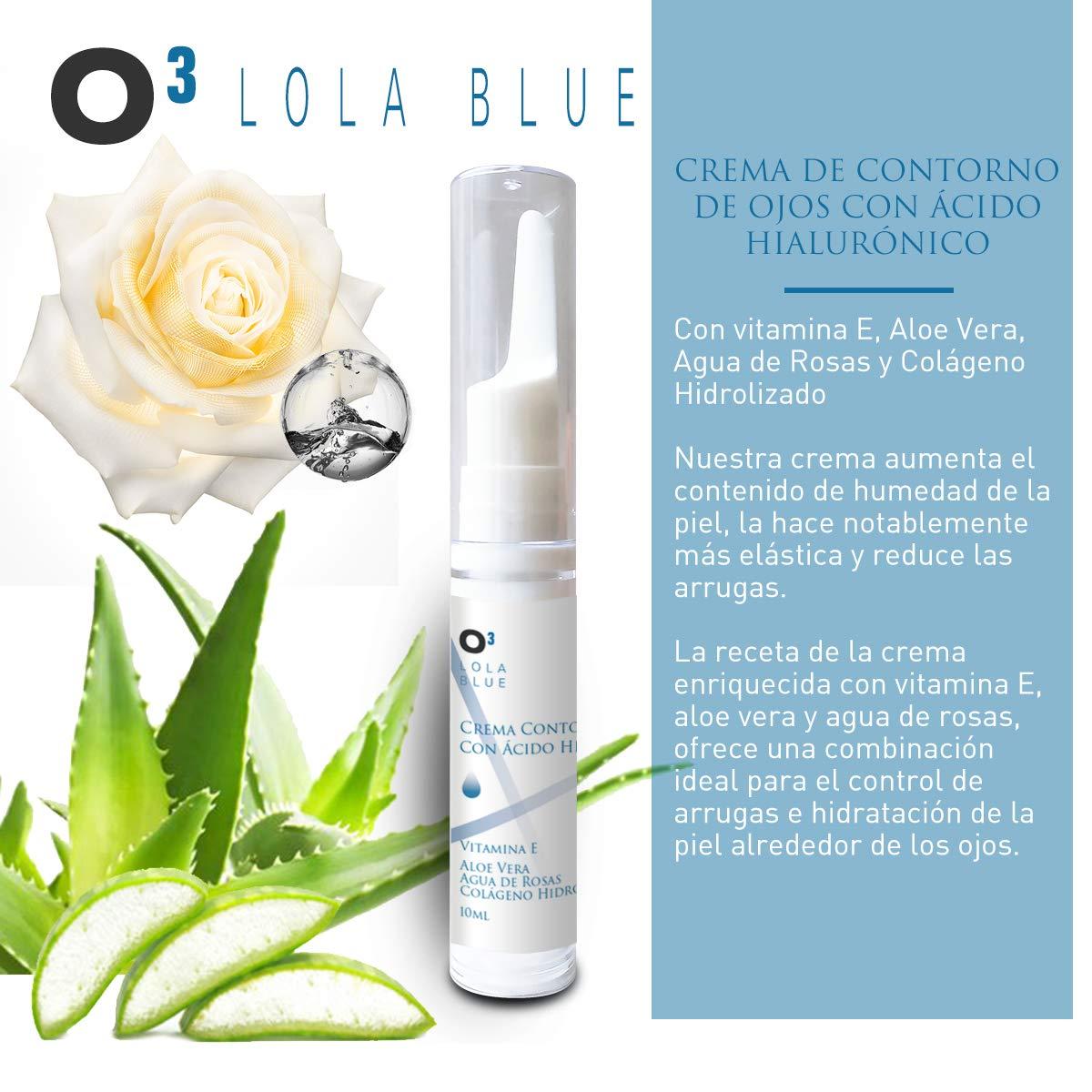 O³ Crema Contorno De Ojos Antiarrugas Lola Blue – Antiedad – Antiarrugas – Patas De Gallo – Ojeras – Bolsas – Con Pinza Depilar | Crema Antiojeras ...