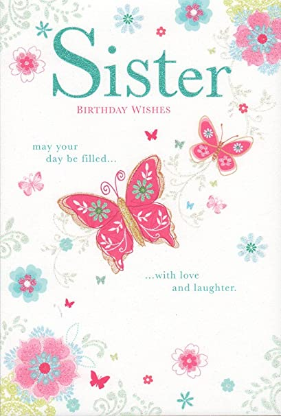 Sister Birthday Wishes Card