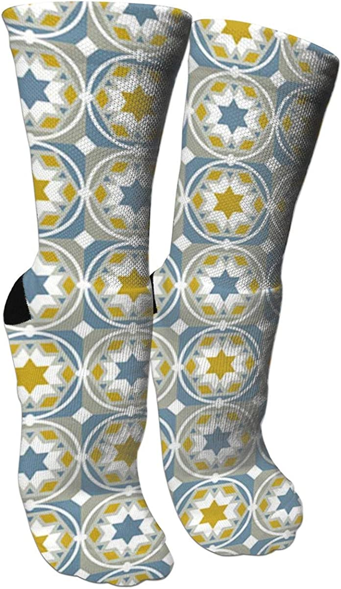 Geometric PatternsCrazy Socks Casual Cotton Crew Socks Cute Funny Sock Great For Sports And Hiking