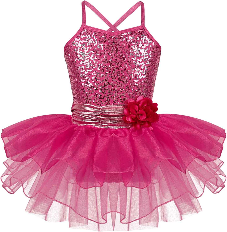 Kids Girls Ballet Dance Jumpsuits Toddlers Gymnastics Leotard Dancewear Costume