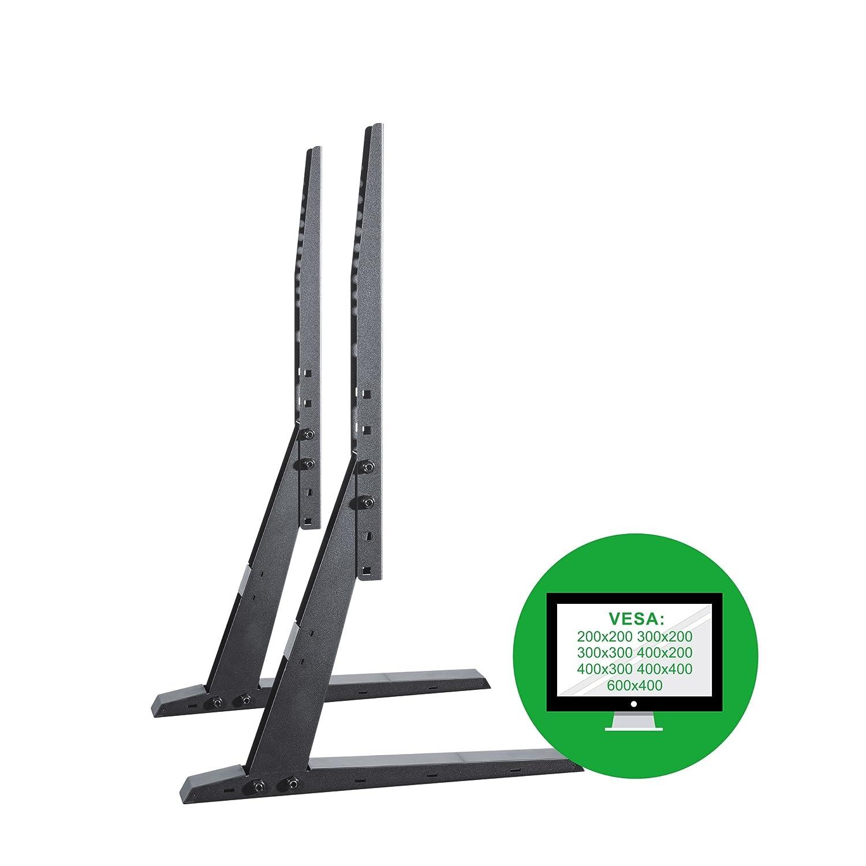 Conecto Conecto Conecto CC50300 Standfuß für TV Geräte mit 81-140 cm (32-55 Zoll), 4-stufig höhenverstellbar, Kabelmanagement, gehärtete Glasoberflächen, Traglast  max. 40,0kg, VESA 600x400, schwarz 3a7d10