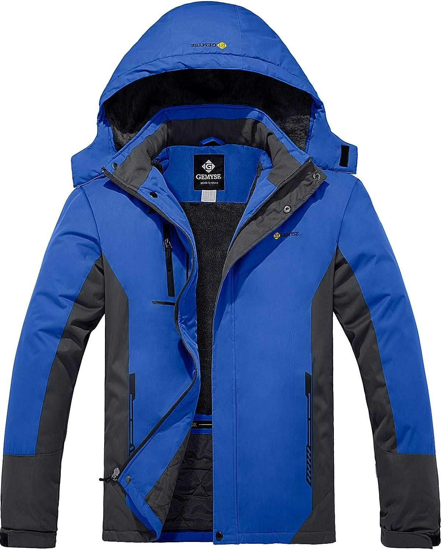 GEMYSE Femme Veste de Ski Imperm/éable Coupe-Vent Veste de Hiver Veste de Pluie encapuchonn/é Manteau de Pluie