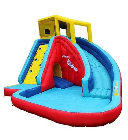 amazon com banzai sidewinder falls 15 foot inflatable waterpark rh amazon com backyard inflatable water slides walmart outdoor inflatable water slide rentals
