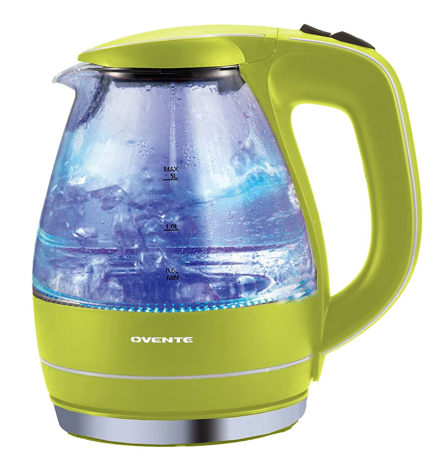 Green Kitchen Kettle: Glass Electric Kettle Tea Pot See Through Kitchen Coffee