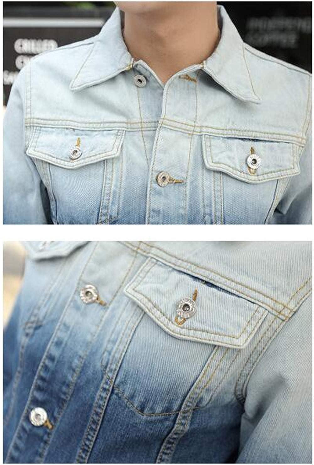 bluee dffg455u dffg455u dffg455u Men's Slim Denim Men's Casual Denim Jacket 6aa36d