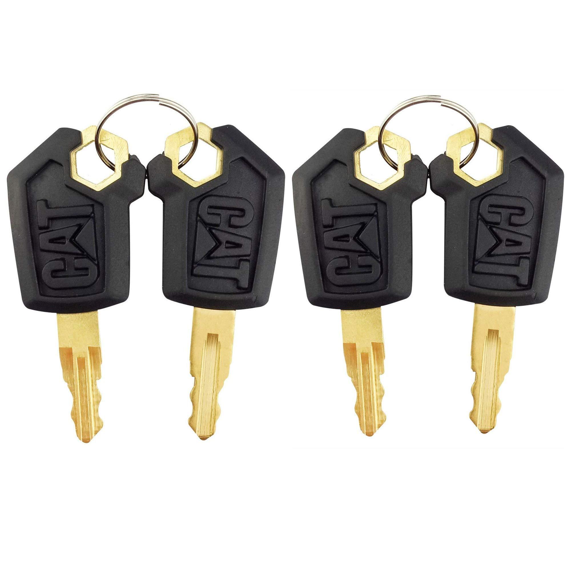 Keys for CAT Caterpillar Heavy Equipment 4 Pack
