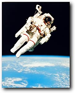 NASA Astronaut in Space Educational and Motivational Wall Decor Art Print Poster (16x20)
