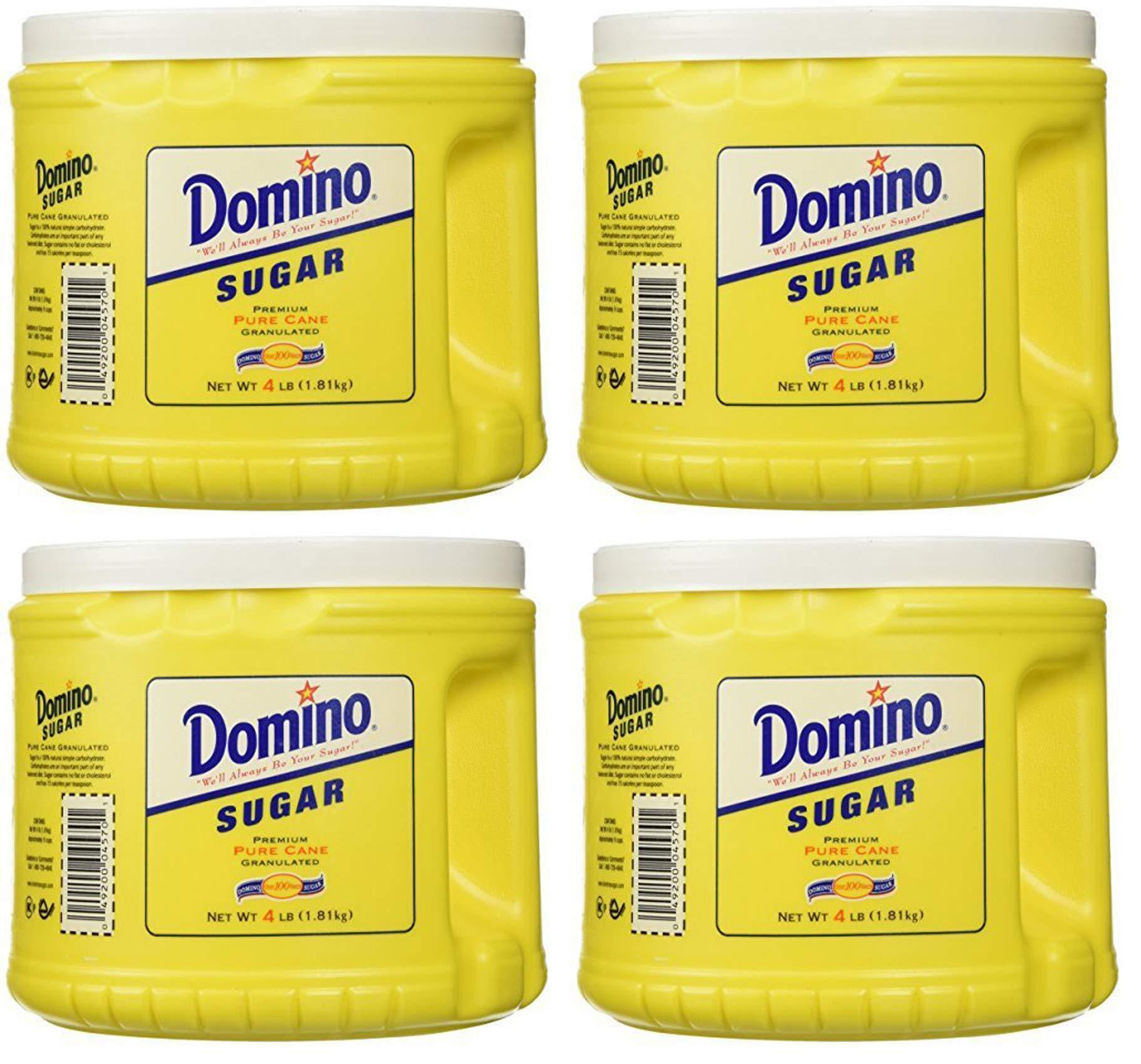 Domino YTEU Pure Cane Sugar 4lb 4 Pack