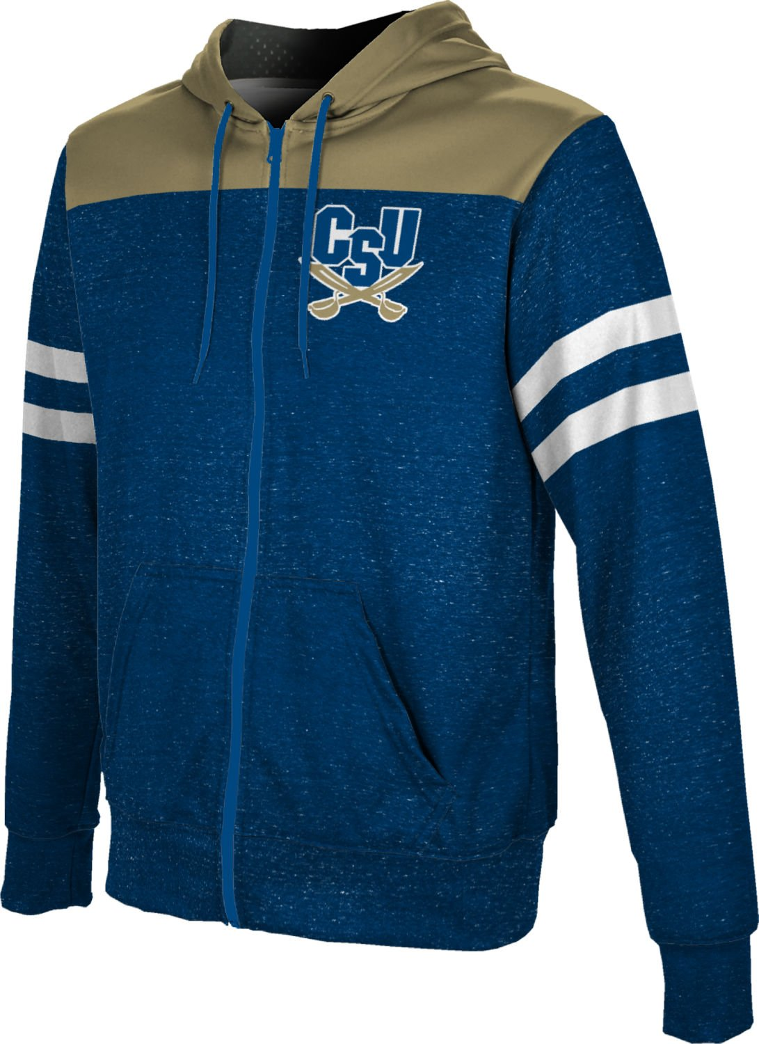 ProSphere Charleston Southern University Boys' Zipper Hoodie, School Spirit Sweatshirt (Gameday) FD011 Blue and Gold