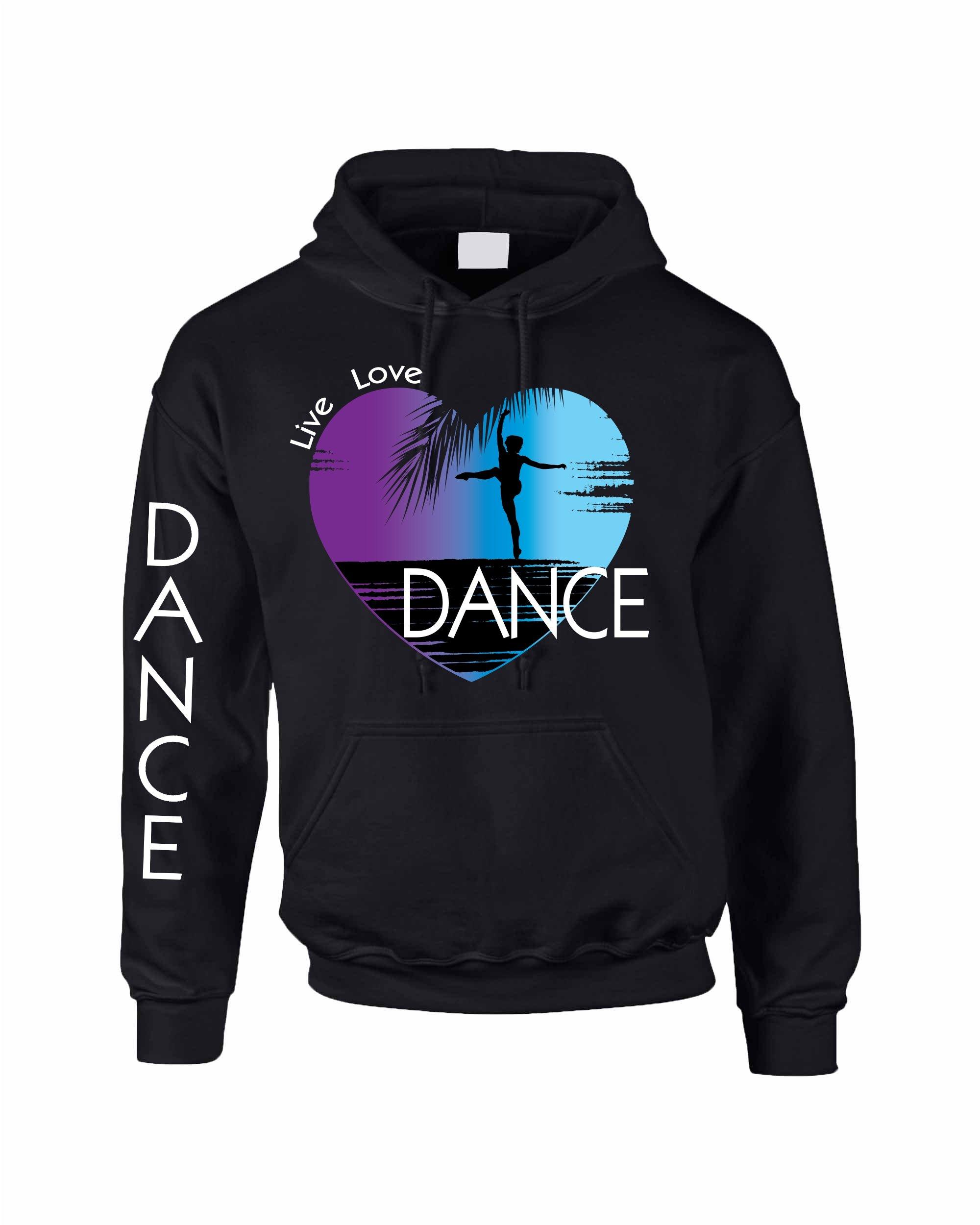 Allntrends Adult Hoodie Dance Art Purple Print Love Cute Top Nice Gift (M, Black)