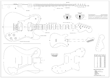 Amazon.com: Full Scale Plans - Fender Telecaster Deluxe Electric ...