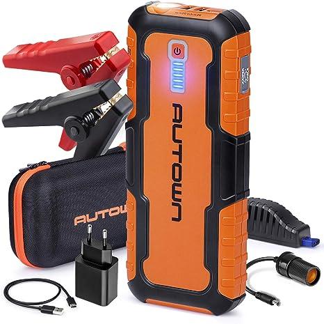 autown Auto Arranque externo batería Cargador 21000 Mah 1000 A ...