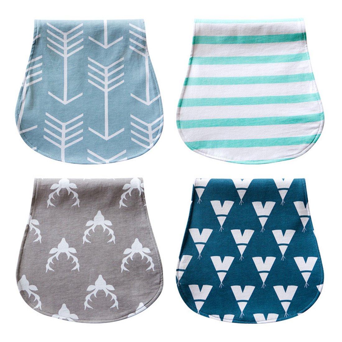 modesoda Baby Bibs Organic Cotton Arrows Burp Clothes for Toddler Girls Boys 4-Pack … 60035300