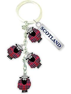 Scottish Multi Black Scottie Dog Bone Scotland Bag Purse Keyring Charm