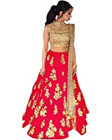 Dwarshi Fashion Women's Party Wear New Year Collection Special Sale Offer Bollywood Red Velvet Heavy Bridal Wedding Lehenga Chaniya Ghagra Choli Choli