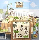 SOHO Curious Monkey Crib Nursery Bedding Set 14 pcs