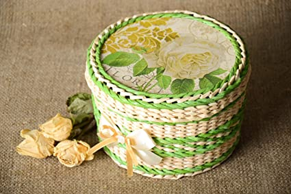 Amazon Com Beautiful Handmade Paper Basket Jewelry Box Design