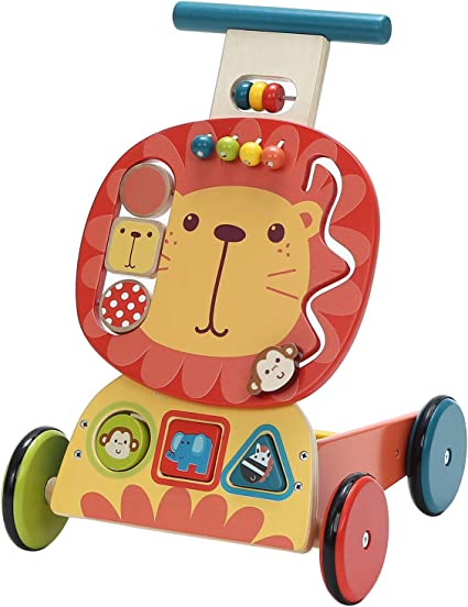 Toddler Walker Small Wagon Ride On Toy Kids Play Push Pull Cart Boy Girl Learn