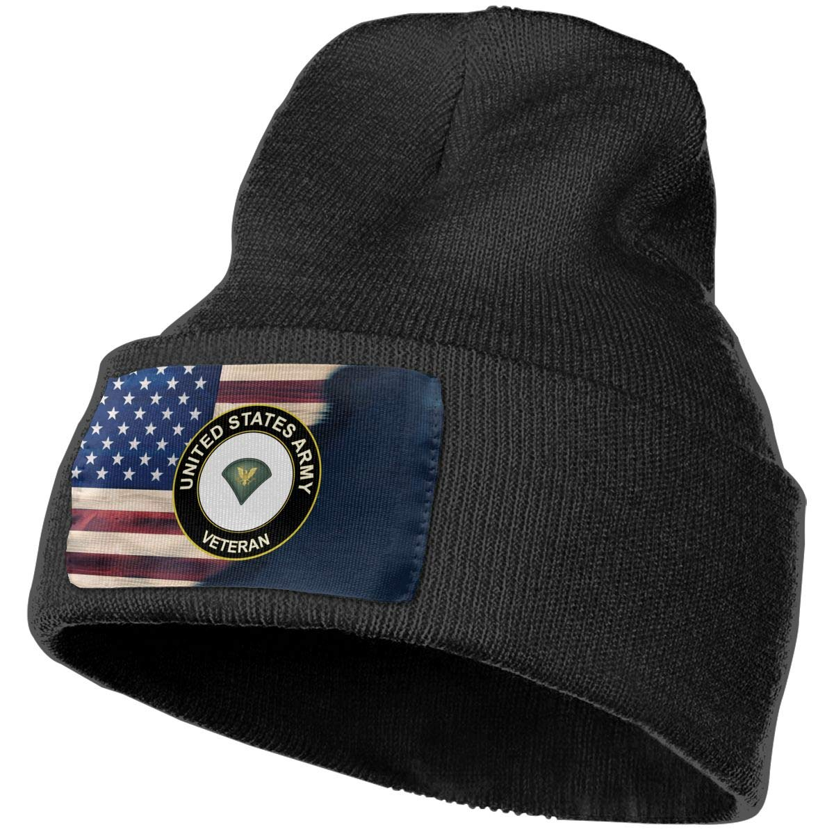 FORDSAN CP US Army Specialist Veteran Mens Beanie Cap Skull Cap Winter Warm Knitting Hats.