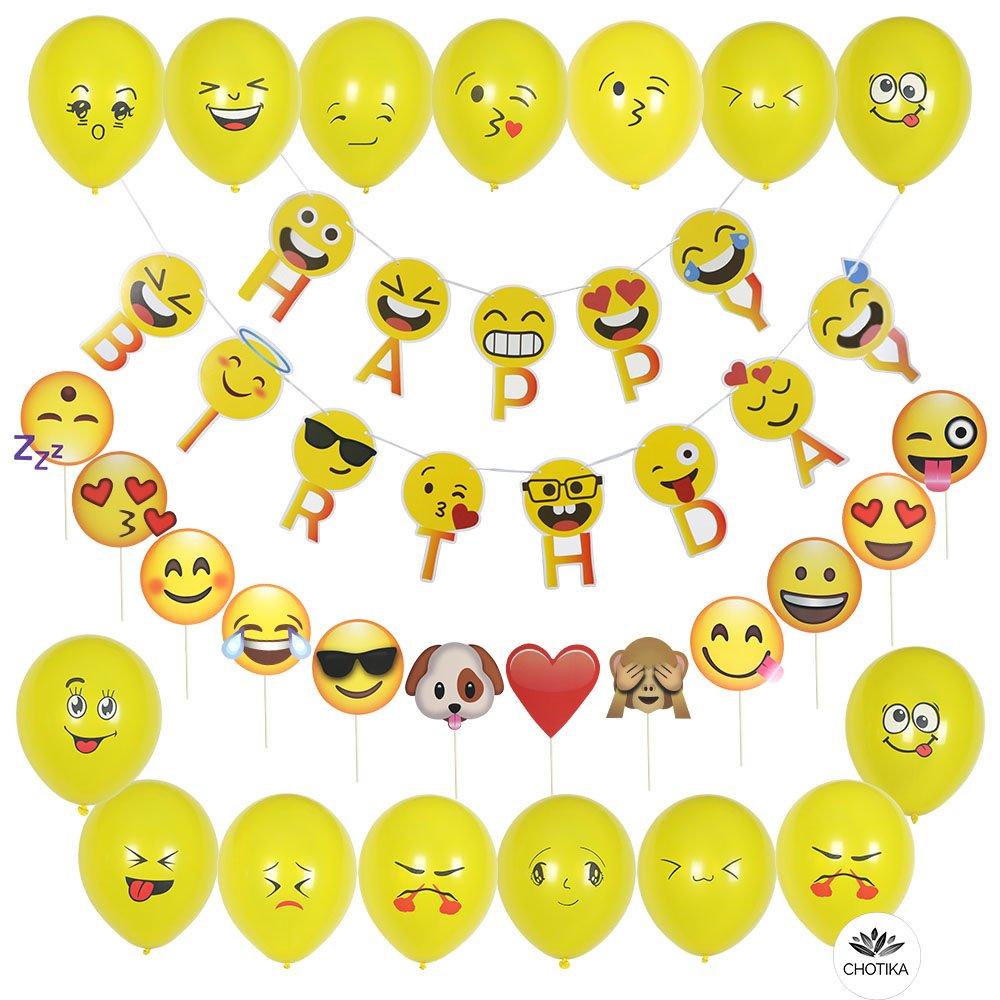 CHOTIKA Emoji Party Decorations