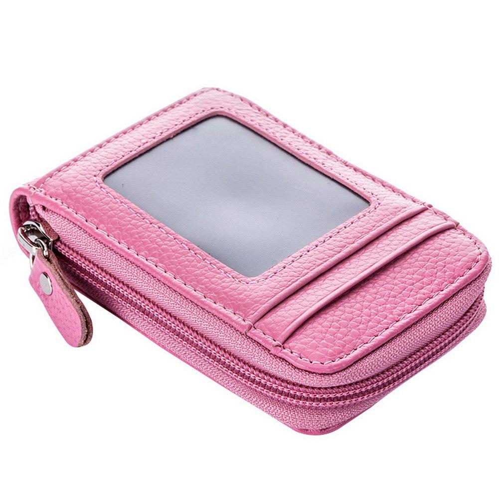 Men's/Women's PU Leather Flip Zip Case Card Bag Slim Zipper ID Credit Card Holder