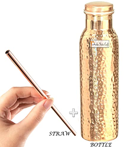 Amazon Com Prisha India Craft Pure Copper Water Bottle Handmade