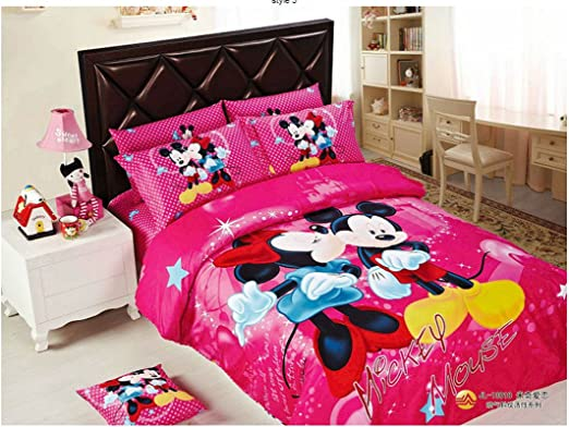PILLOWCASE NEW DISNEY MINNIE MOUSE PINK SINGLE BED DUVET DOONA QUILT COVER