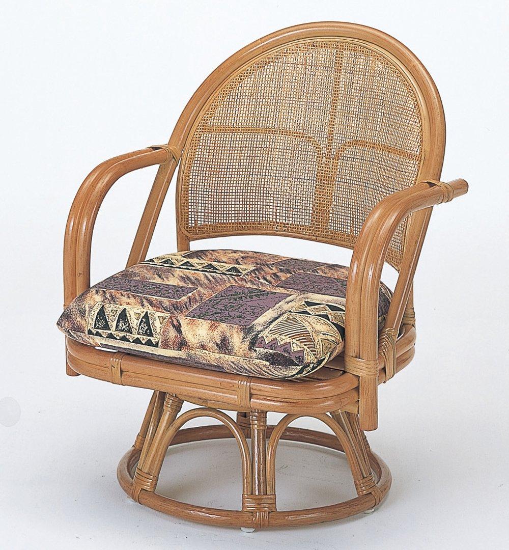 籐家具(ラタン) 籐回転座椅子 SH32 ハイタイプ S3501 B00120DRRA