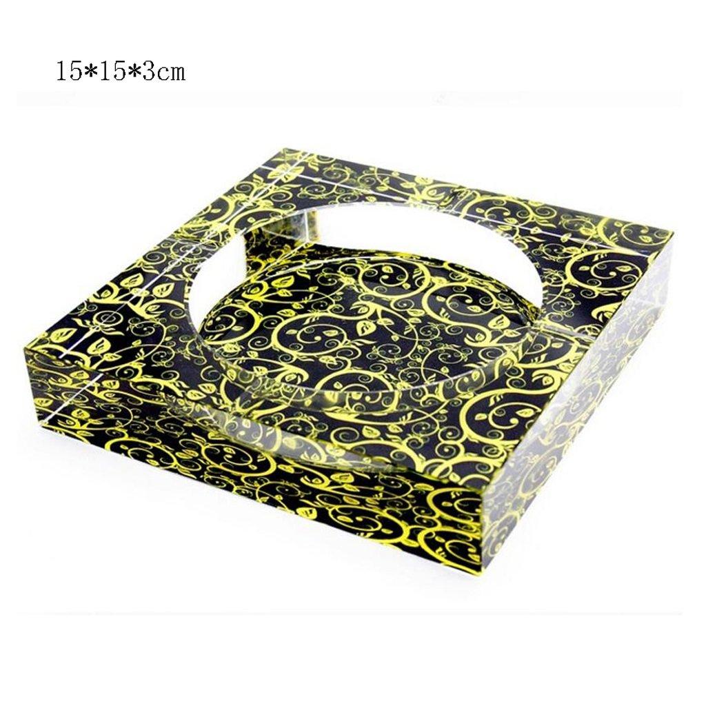 Möbel & Wohnaccessoires Aschenbecher LINGZHIGAN 3D verhüllte Rattan Square Crystal Fashion Creative Geschenke Home Living Room Dekoration Größe : 25 * 25 * 4.5cm Aschenbecher