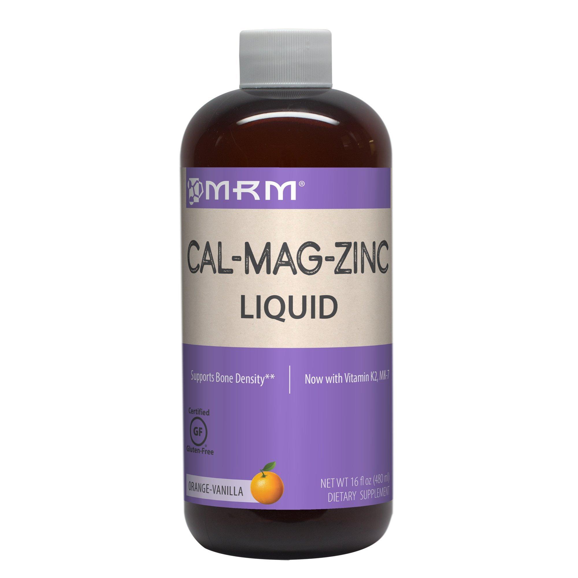 Cal-Mag-Zinc Liquid (Vanilla-Orange Flavor 16oz) Great Tasting!