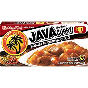 House Foods Java Curry Hot, 6.52-Ounce Boxes (Pack of 10)
