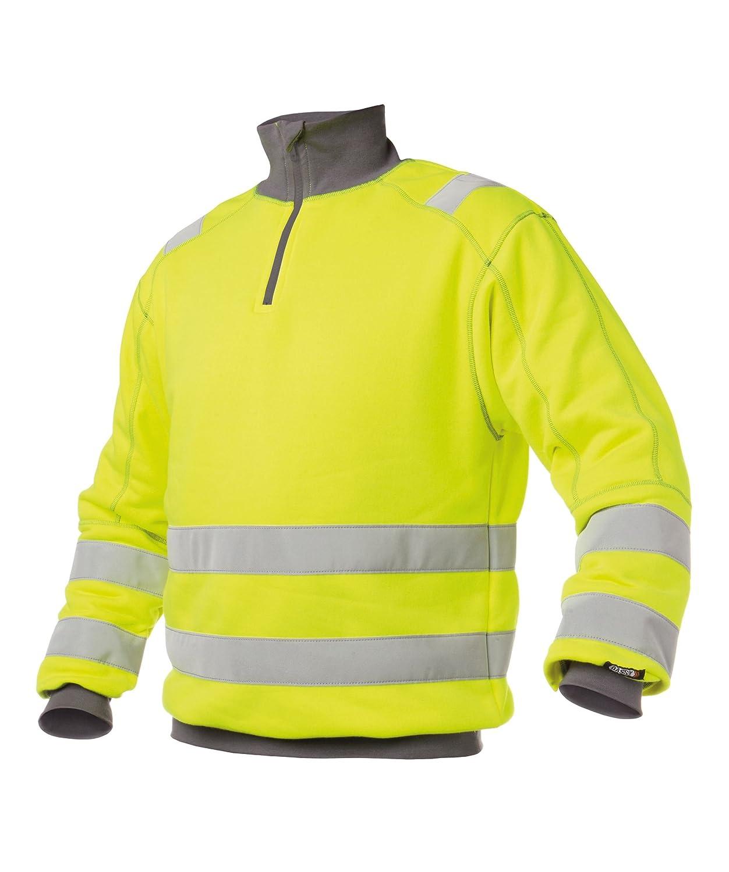 DENVER Warnschutz Sweatshirt von Dassy Orange/Dunkelblau L