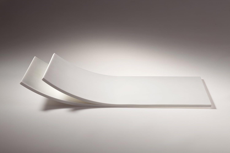 Planche à découper plateau en Solid Surface Blanc 40 x 20 x 5 -5 cm