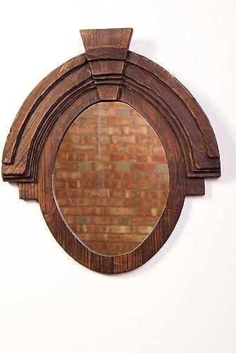 Urbanest Large Wood Oval Wall Decor Mirror, 26 x23.5