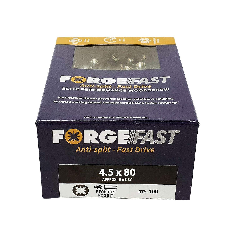 FORFFP580Y Forgefix plateado color plateado Organizador de tornillos de madera FORFFP1000Y Forgefast Pozi compatible con Elite Performance