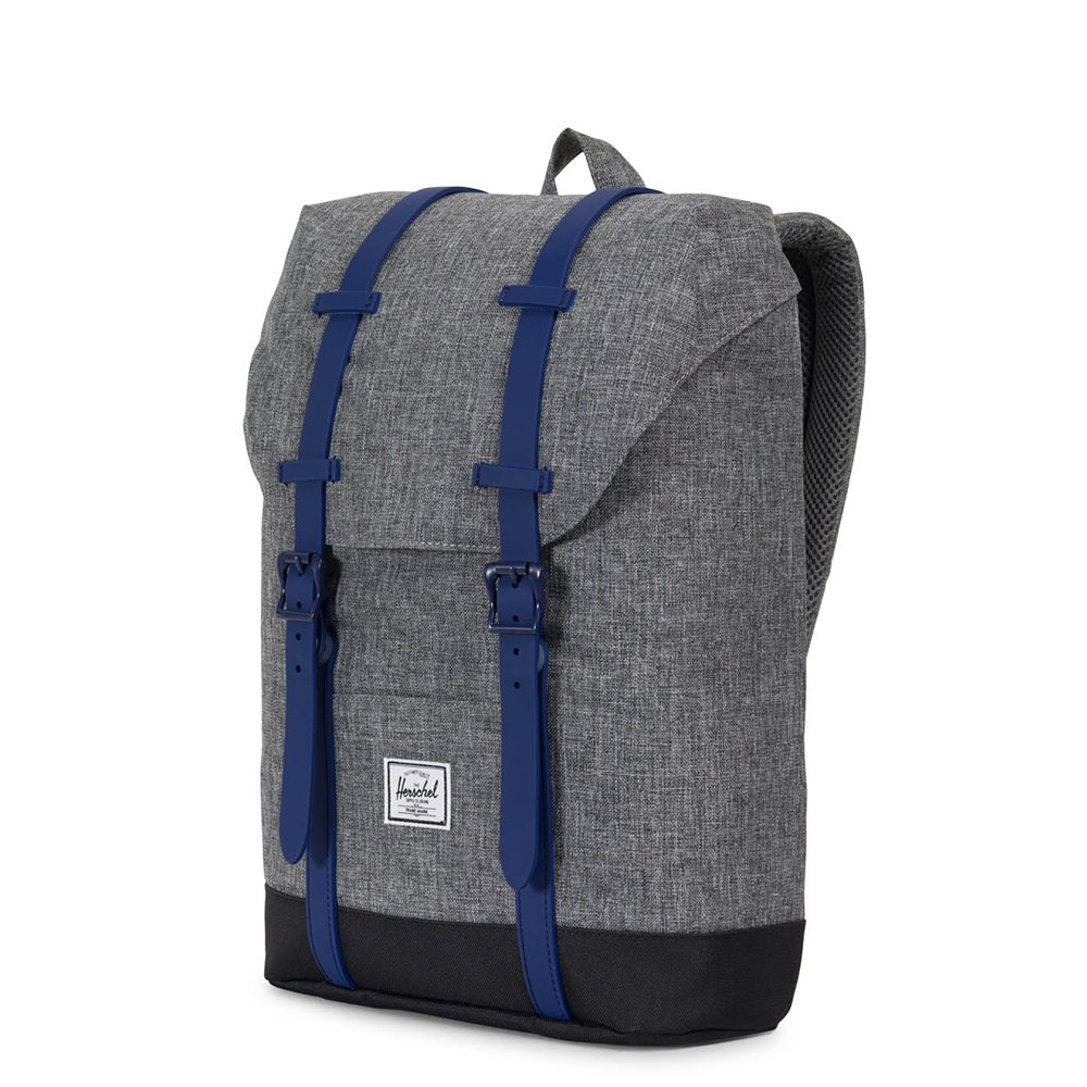 Amazon herschel supply co retreat youth raven crosshatch retreat youth raven crosshatchblackblueprint rubber casual daypacks malvernweather Image collections