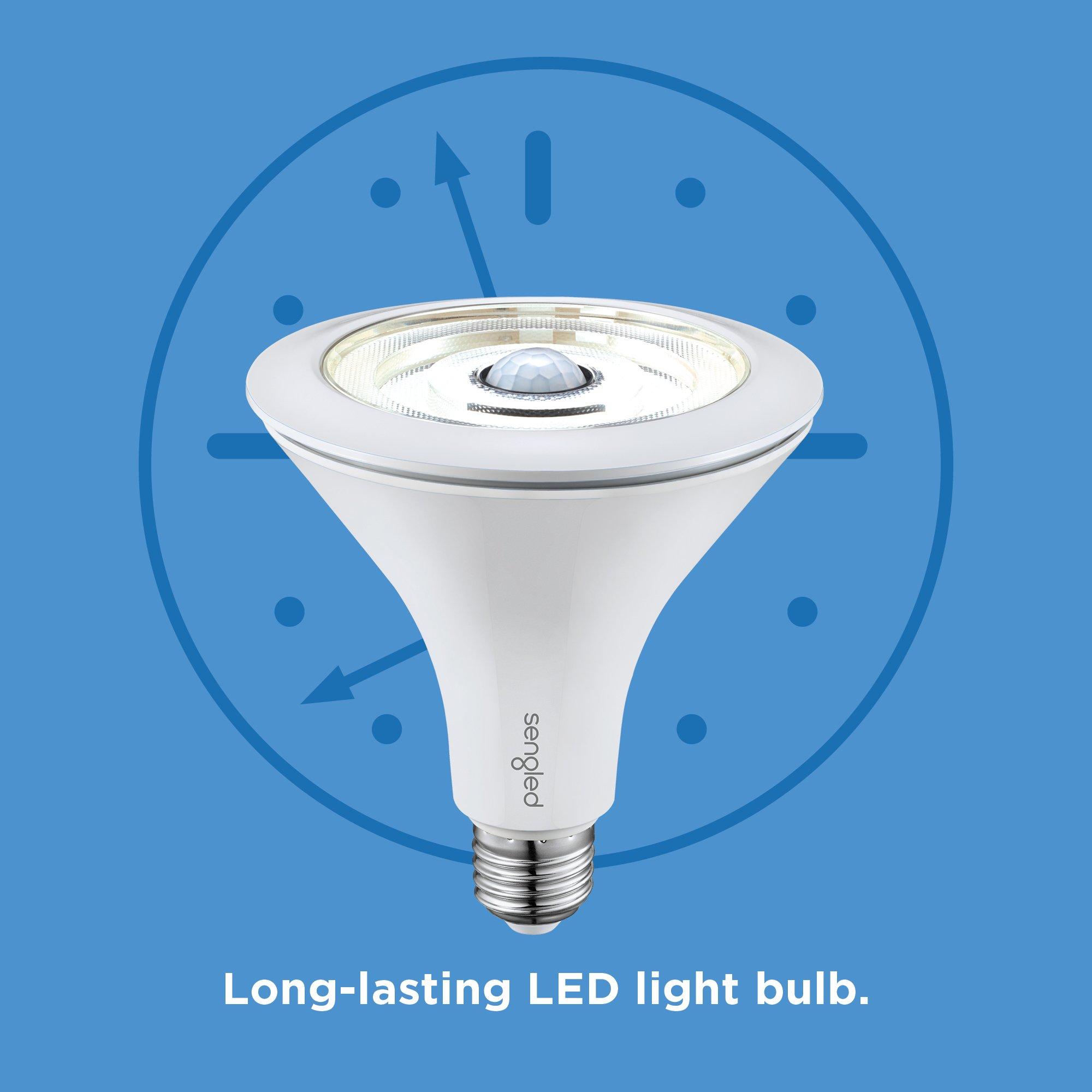Sengled LED Flood Light with Motion Sensor & Daylight Sensor, Smart LED Light Bulb PAR38, Dusk to Dawn Bulb, Waterproof 3000K for Outdoor Use, 2 Pack by Sengled (Image #8)