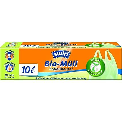 Swirl - Bolsas de basura orgánica con asa (10 unidades ...