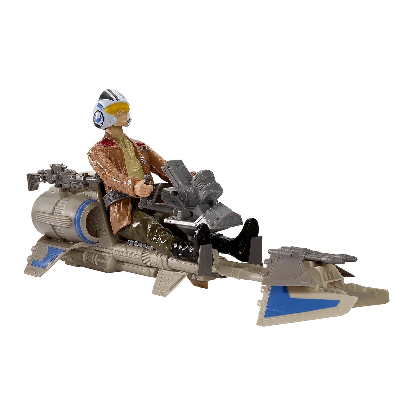 Star Wars The Force Awakens Speeder Bike and Poe Dameron 12-Inch Figure Hasbro B3917