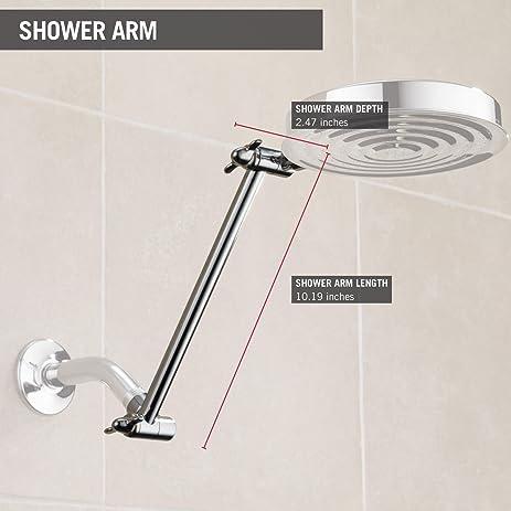 Delta Faucet UA902-PK 10-inch Adjustable Shower Arm, Chrome ...
